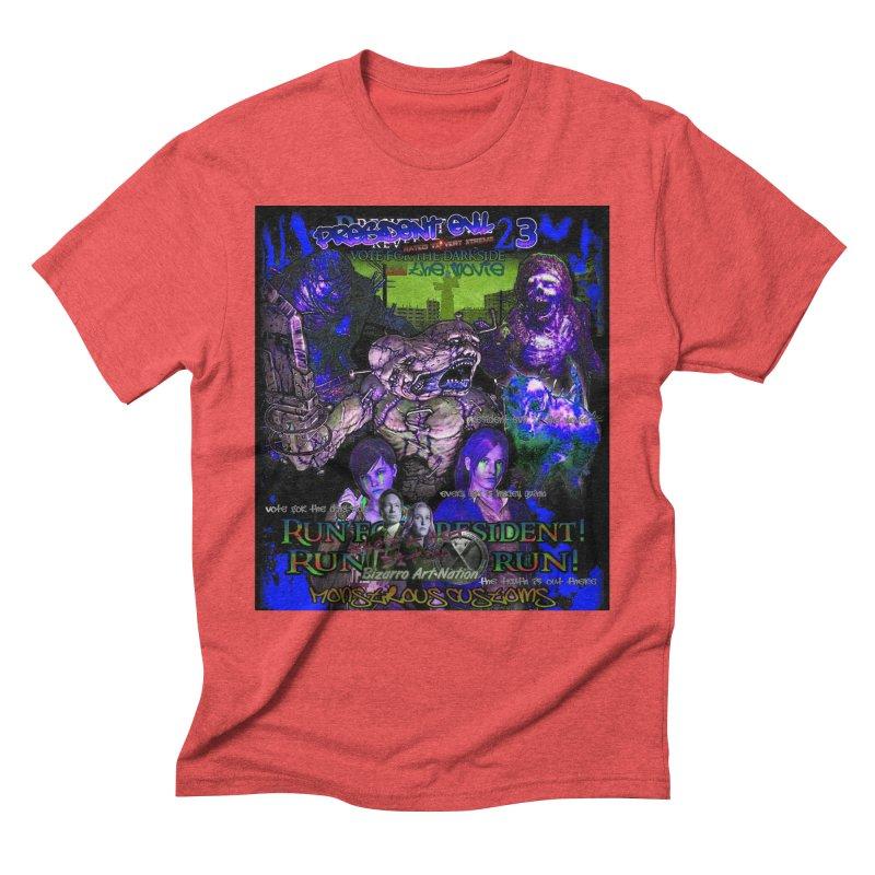 President Evil 23: Dark Night Men's Triblend T-Shirt by Monstrous Customs