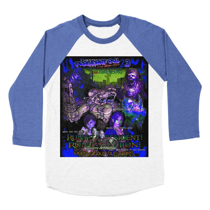 President Evil 23: Dark Night Women's Baseball Triblend Longsleeve T-Shirt by Monstrous Customs