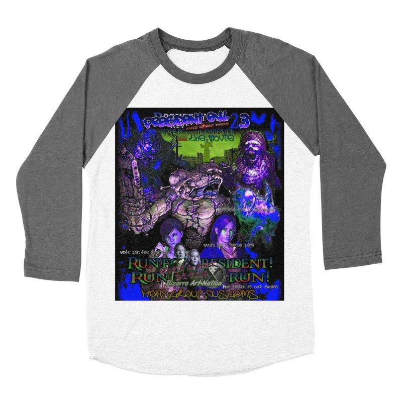President Evil 23: Dark Night Men's Baseball Triblend T-Shirt by Monstrous Customs