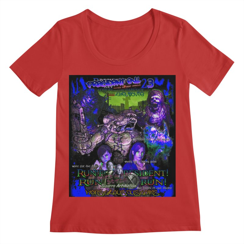 President Evil 23: Dark Night Women's Regular Scoop Neck by Monstrous Customs