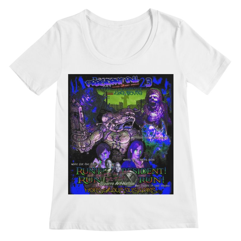 President Evil 23: Dark Night Women's Regular Scoop Neck by Monstrous Customs