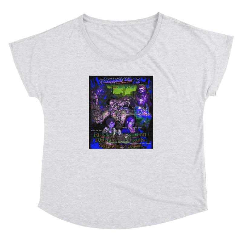 President Evil 23: Dark Night Women's Dolman Scoop Neck by Monstrous Customs