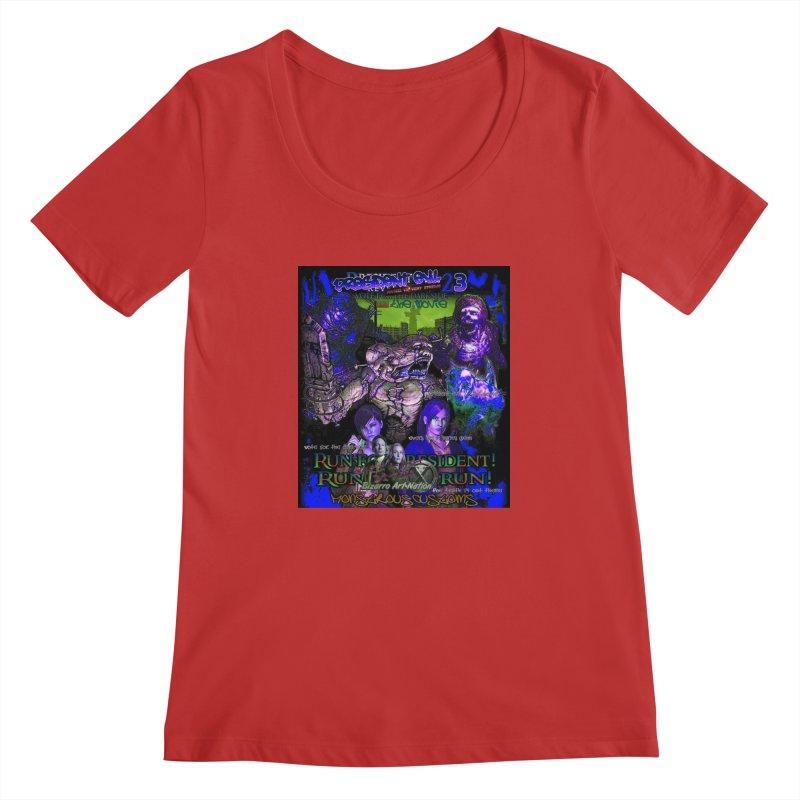 President Evil 23: Dark Night Women's Scoopneck by Monstrous Customs