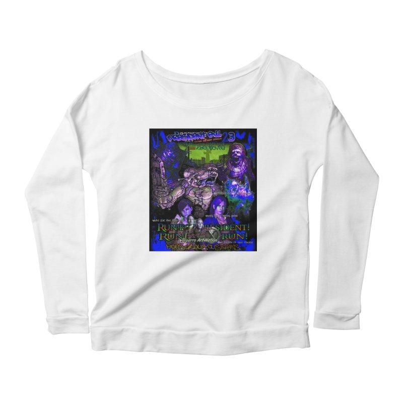 President Evil 23: Dark Night Women's Scoop Neck Longsleeve T-Shirt by Monstrous Customs