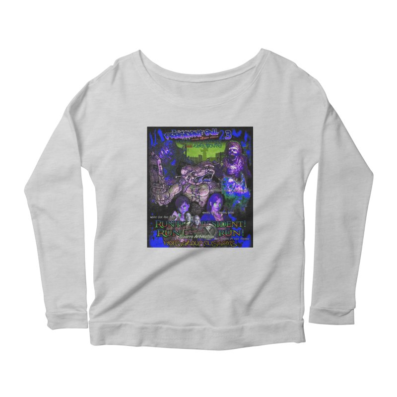 President Evil 23: Dark Night Women's Scoop Neck Longsleeve T-Shirt by Monstrous Customs