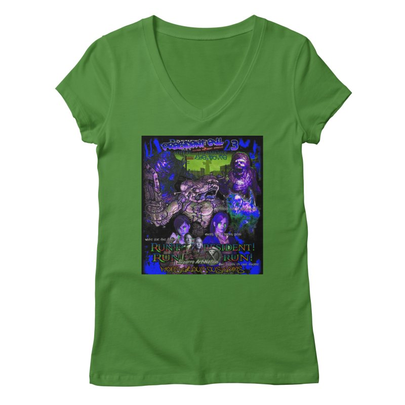 President Evil 23: Dark Night Women's V-Neck by Monstrous Customs