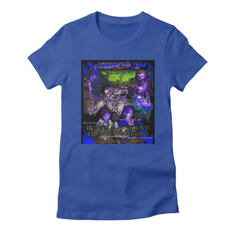 President Evil 23: Dark Night Women's Fitted T-Shirt by Monstrous Customs