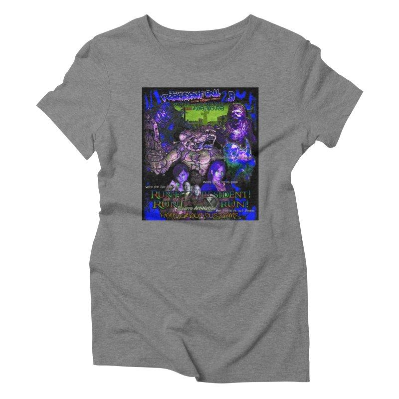 President Evil 23: Dark Night Women's Triblend T-Shirt by Monstrous Customs