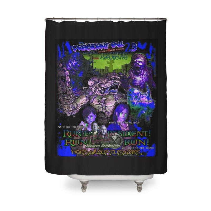 President Evil 23: Dark Night Home Shower Curtain by Monstrous Customs
