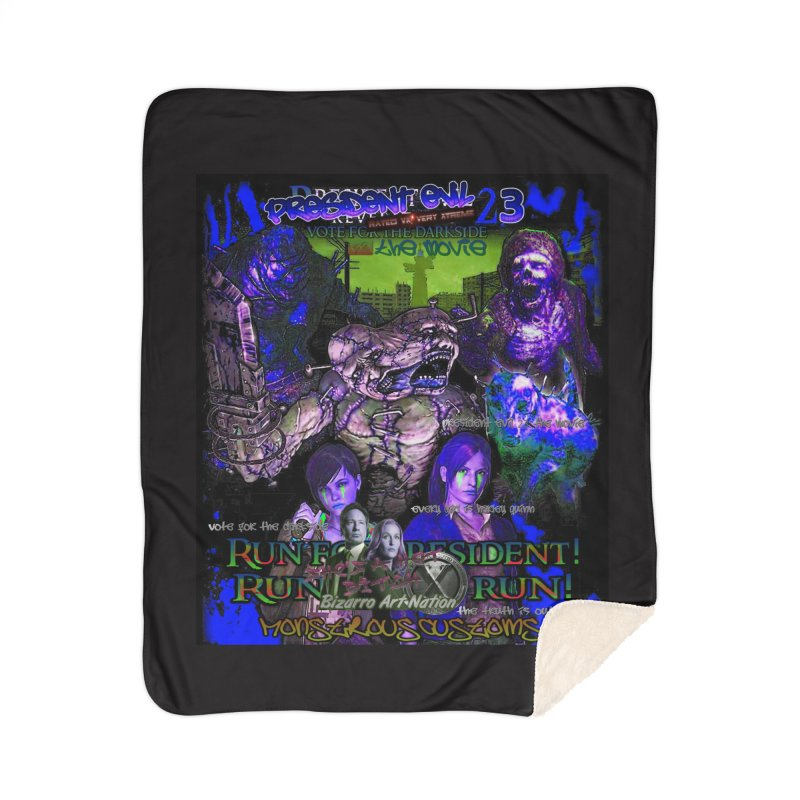 President Evil 23: Dark Night Home Sherpa Blanket Blanket by Monstrous Customs