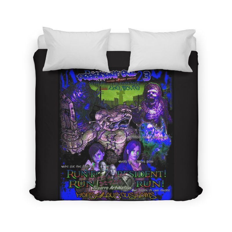 President Evil 23: Dark Night Home Duvet by Monstrous Customs