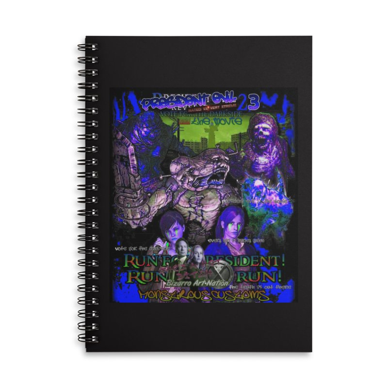 President Evil 23: Dark Night Accessories Lined Spiral Notebook by Monstrous Customs