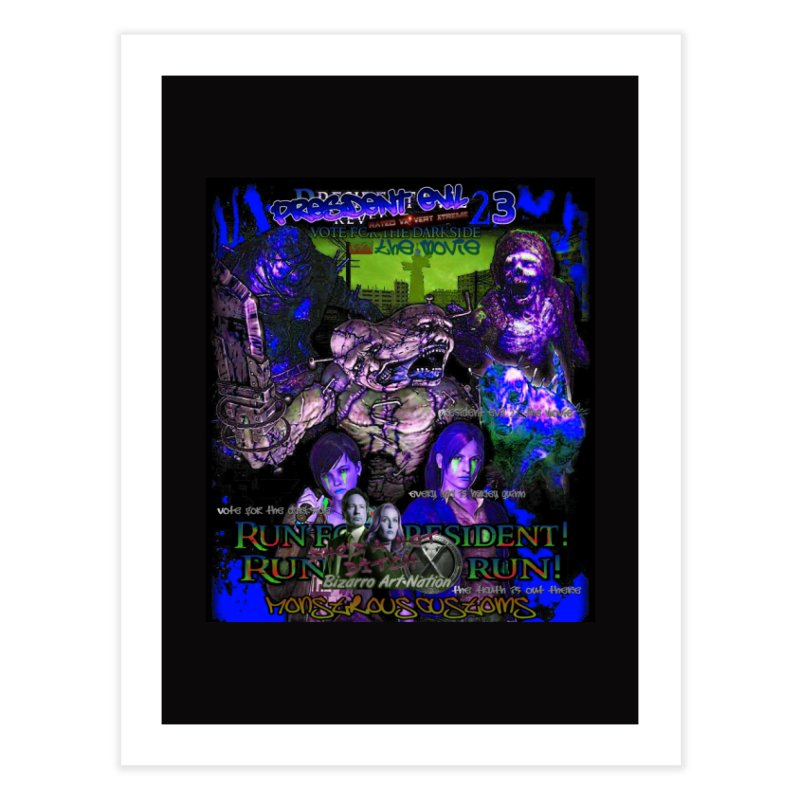 President Evil 23: Dark Night Home Fine Art Print by Monstrous Customs
