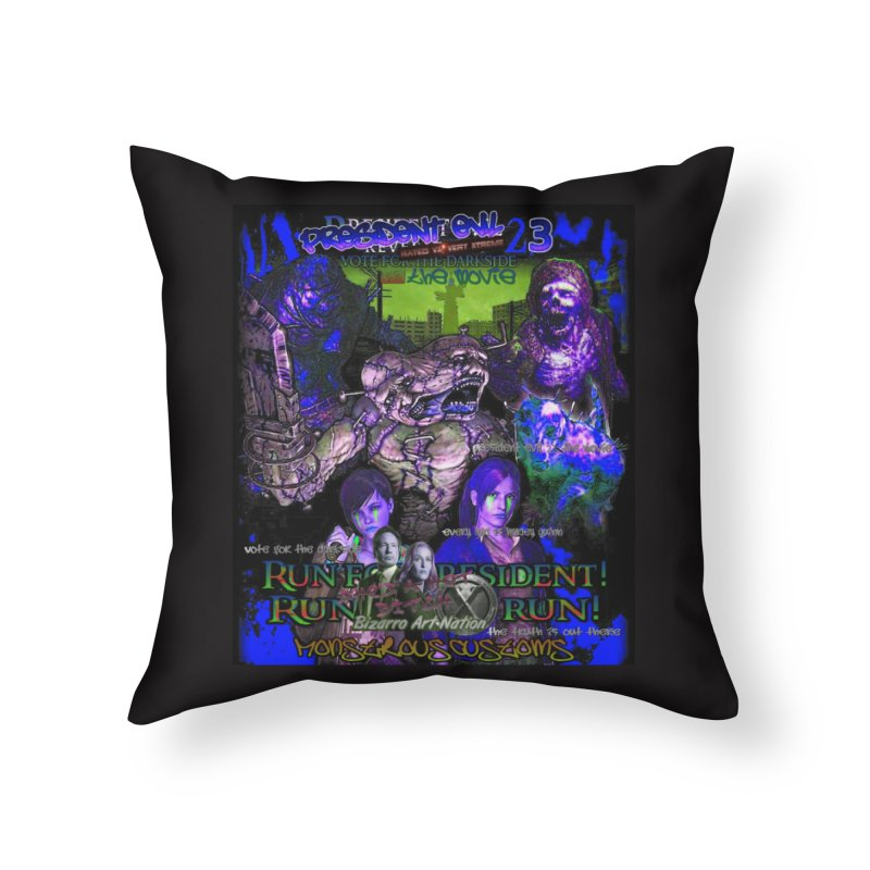 President Evil 23: Dark Night Home Throw Pillow by Monstrous Customs