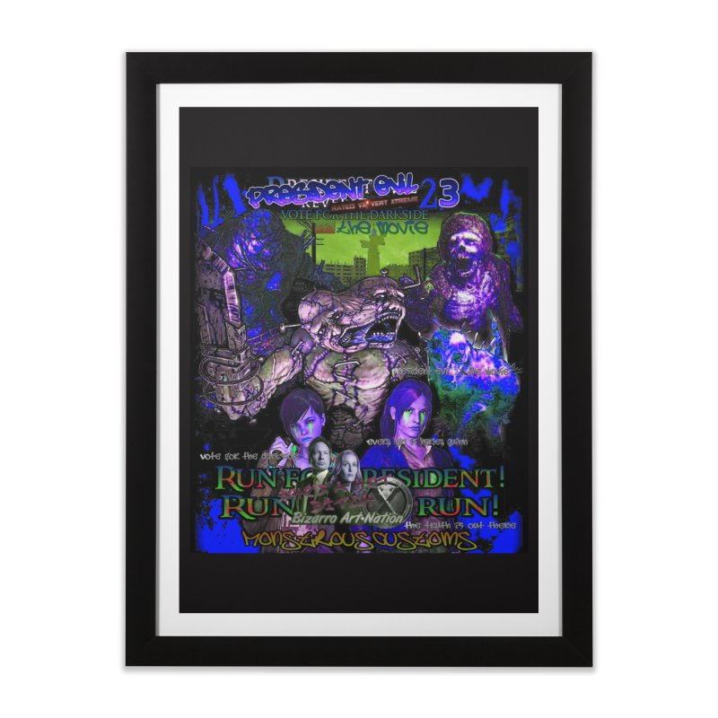 President Evil 23: Dark Night Home Framed Fine Art Print by Monstrous Customs
