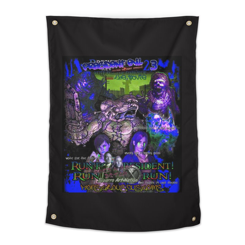 President Evil 23: Dark Night Home Tapestry by Monstrous Customs