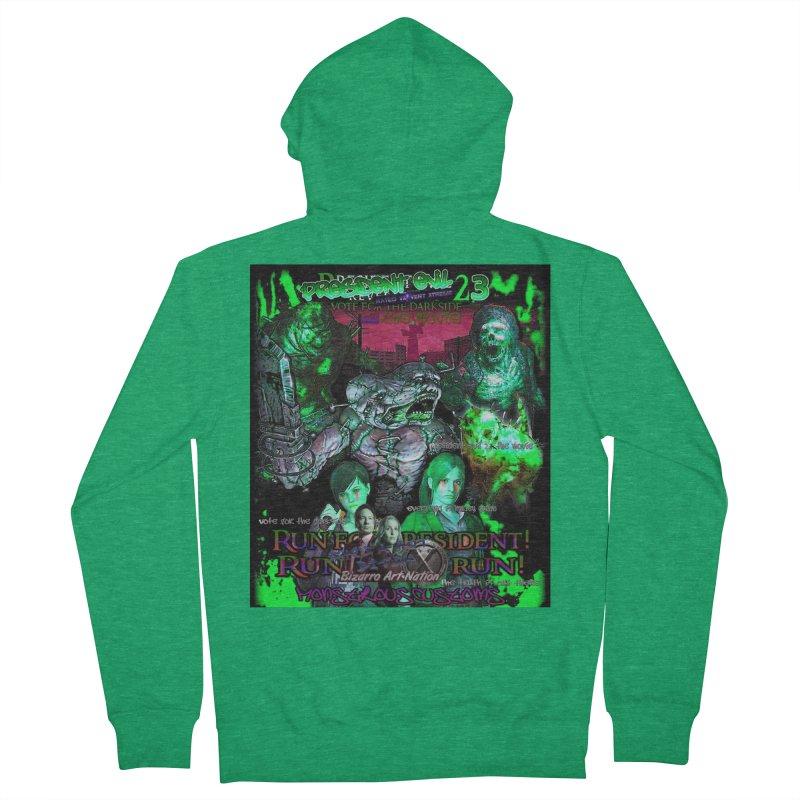 President Evil 23: Toxic Slime Women's Zip-Up Hoody by Monstrous Customs
