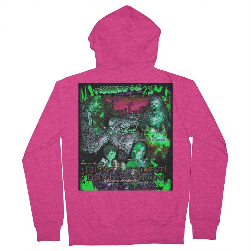 President Evil 23: Toxic Slime Women's French Terry Zip-Up Hoody by Monstrous Customs