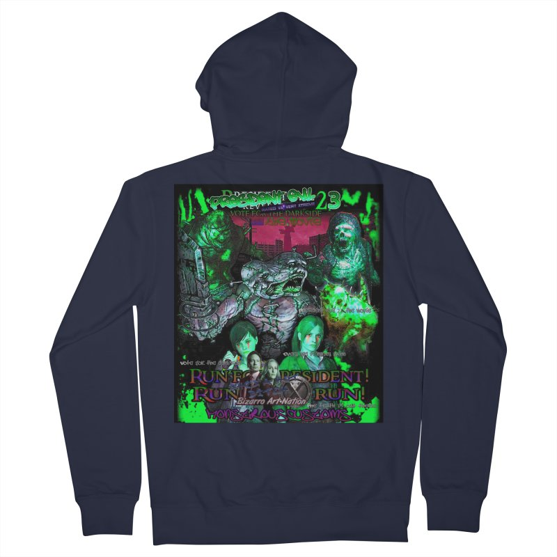 President Evil 23: Toxic Slime Men's French Terry Zip-Up Hoody by Monstrous Customs