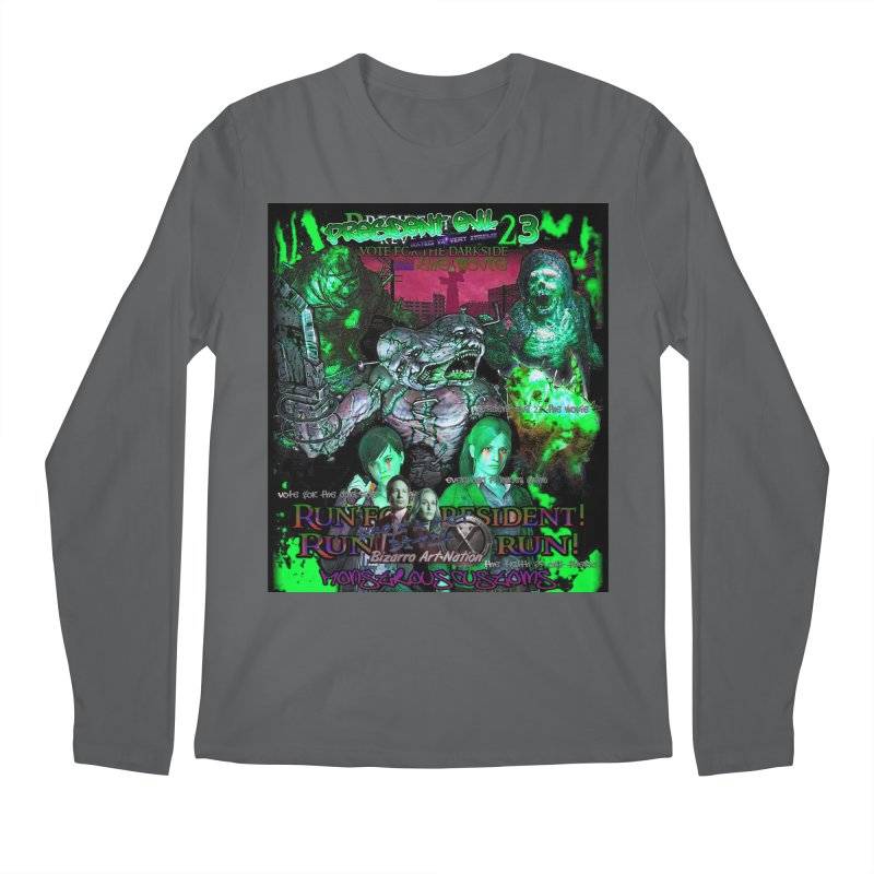 President Evil 23: Toxic Slime Men's Regular Longsleeve T-Shirt by Monstrous Customs