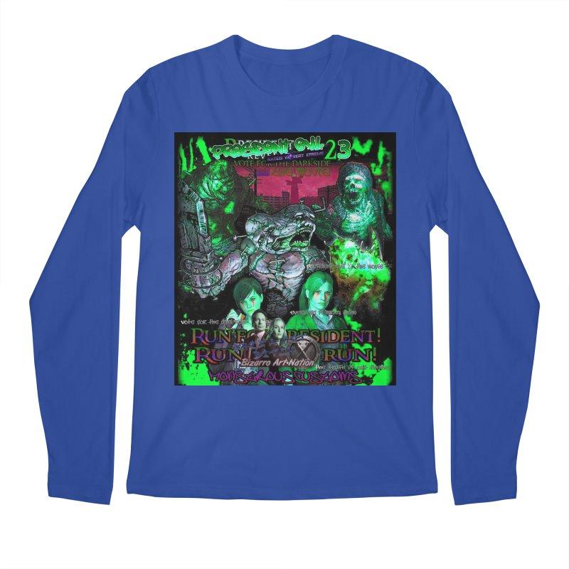 President Evil 23: Toxic Slime Men's Regular Longsleeve T-Shirt by Monstrous Customs