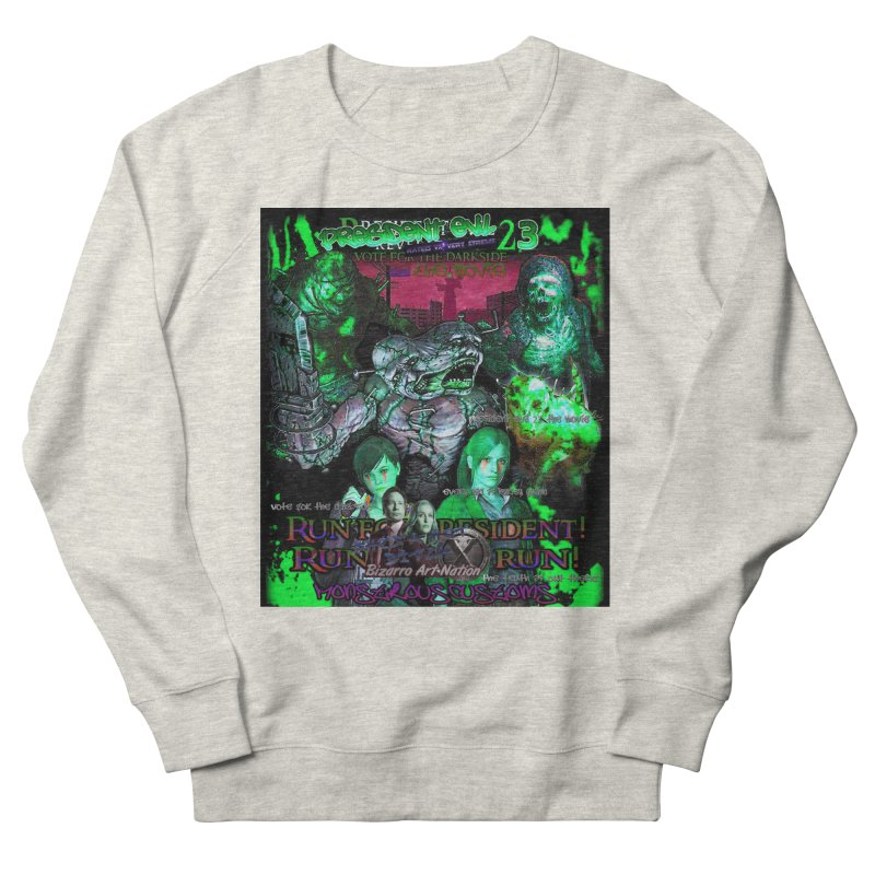 President Evil 23: Toxic Slime Women's French Terry Sweatshirt by Monstrous Customs