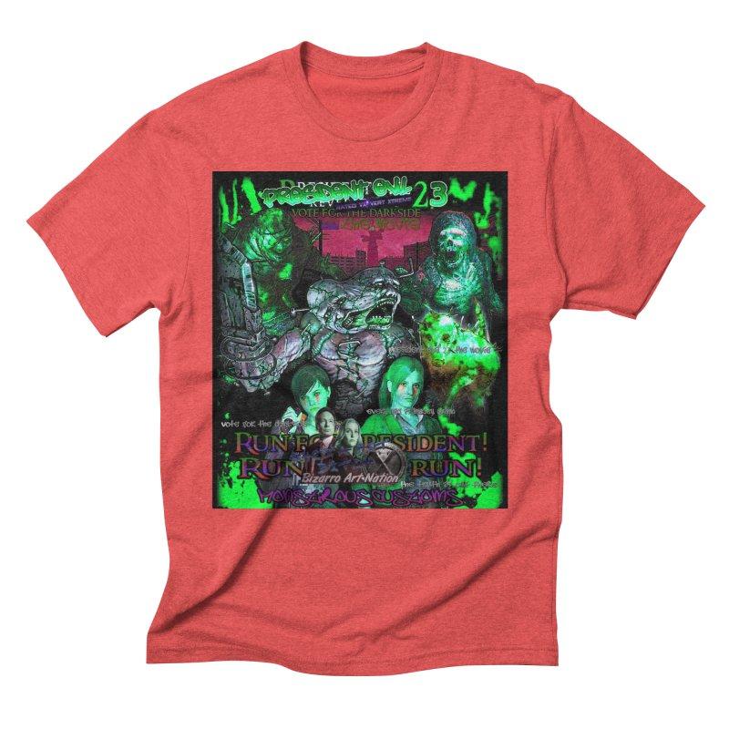 President Evil 23: Toxic Slime Men's Triblend T-Shirt by Monstrous Customs