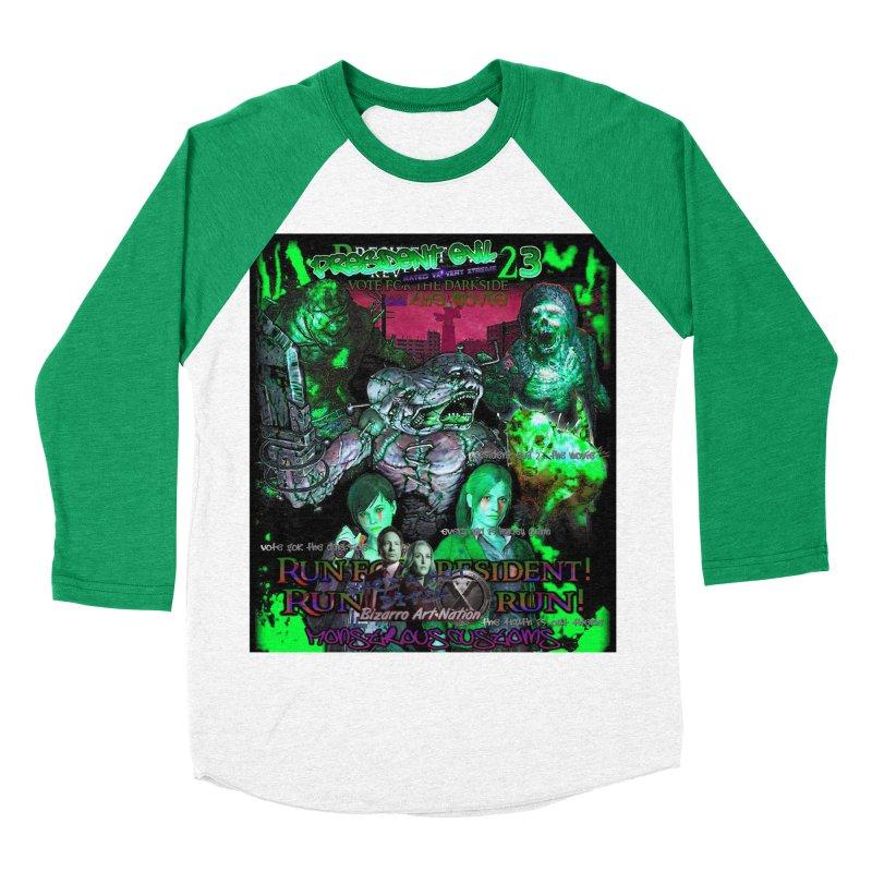 President Evil 23: Toxic Slime Women's Baseball Triblend Longsleeve T-Shirt by Monstrous Customs