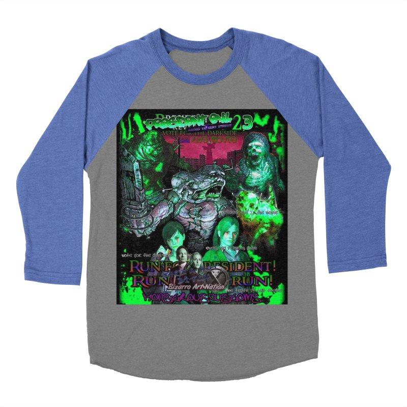 President Evil 23: Toxic Slime Women's Baseball Triblend T-Shirt by Monstrous Customs