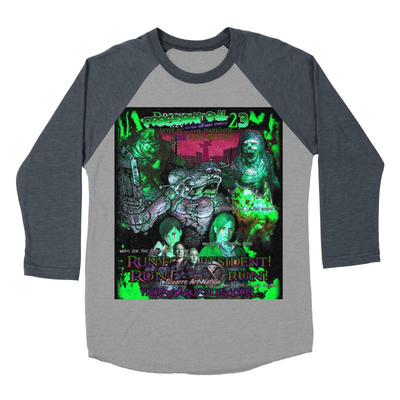 President Evil 23: Toxic Slime Women's Baseball Triblend Longsleeve T-Shirt by Monstrous Customs