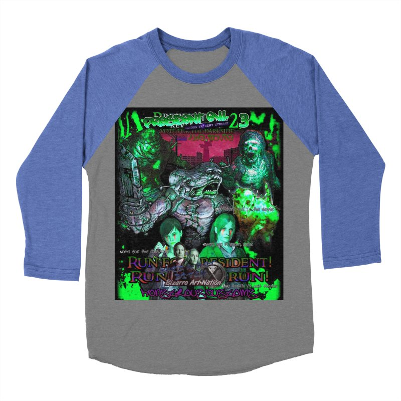 President Evil 23: Toxic Slime Men's Baseball Triblend Longsleeve T-Shirt by Monstrous Customs