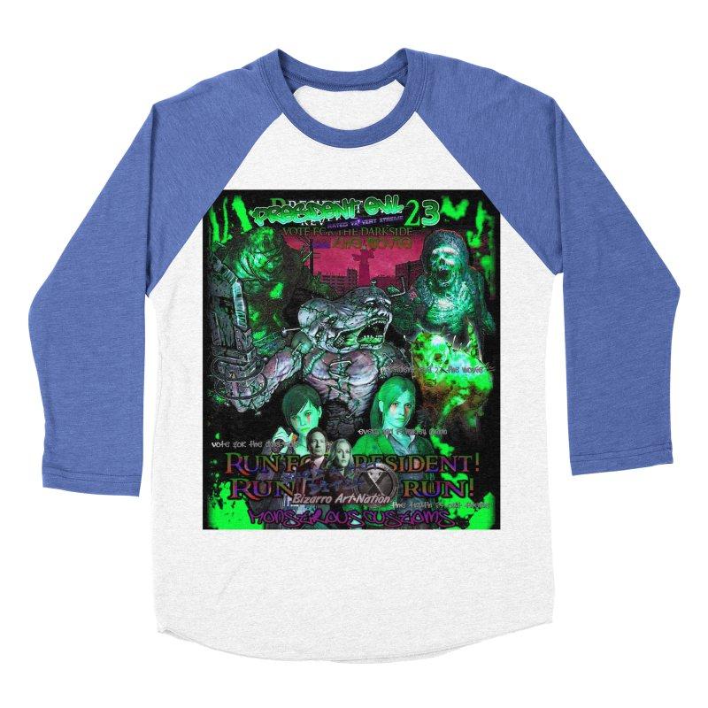 President Evil 23: Toxic Slime Men's Baseball Triblend Longsleeve T-Shirt by Monstrous Customs