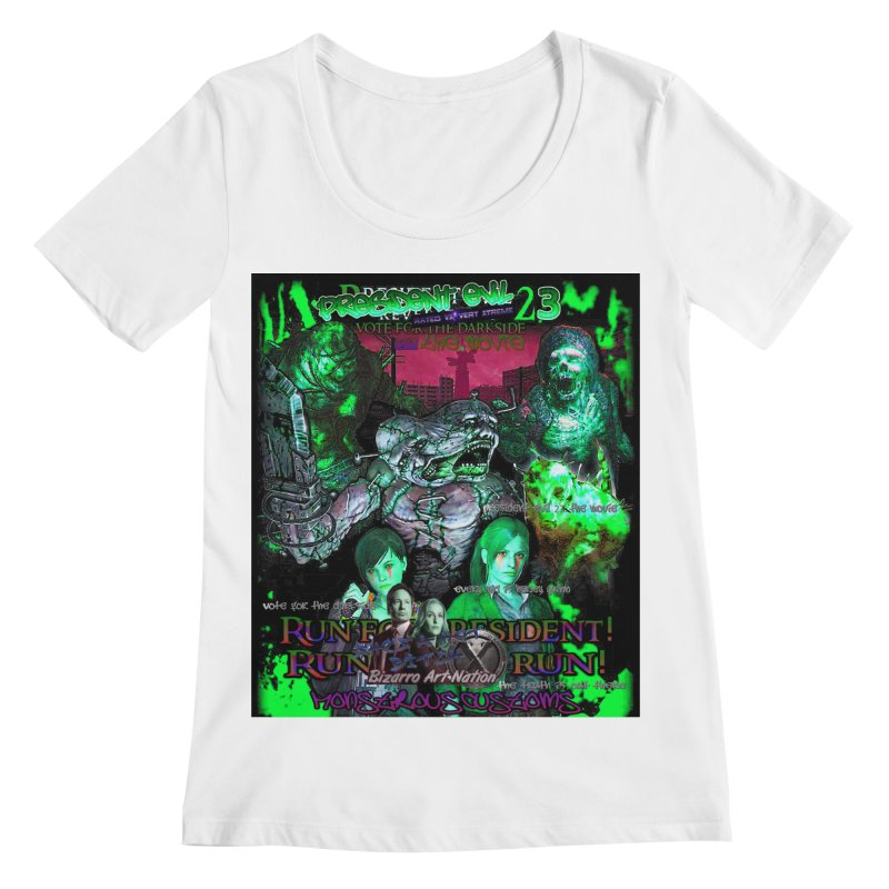 President Evil 23: Toxic Slime Women's Regular Scoop Neck by Monstrous Customs