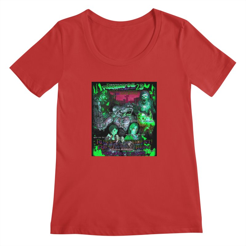President Evil 23: Toxic Slime Women's Scoopneck by Monstrous Customs