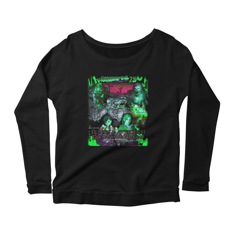 President Evil 23: Toxic Slime Women's Scoop Neck Longsleeve T-Shirt by Monstrous Customs