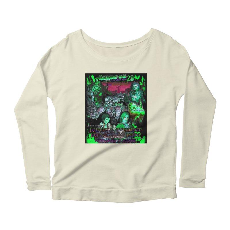 President Evil 23: Toxic Slime Women's Scoop Neck Longsleeve T-Shirt by Monstrous Customs