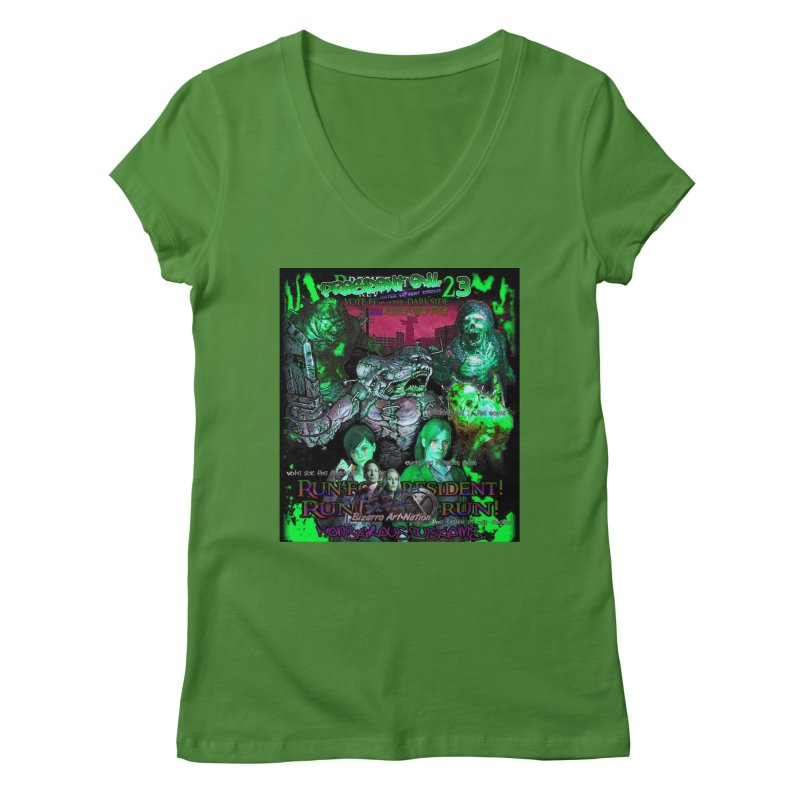 President Evil 23: Toxic Slime Women's Regular V-Neck by Monstrous Customs