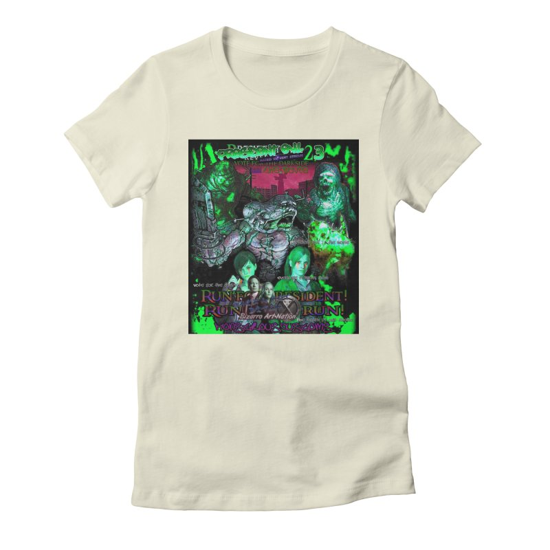 President Evil 23: Toxic Slime Women's Fitted T-Shirt by Monstrous Customs