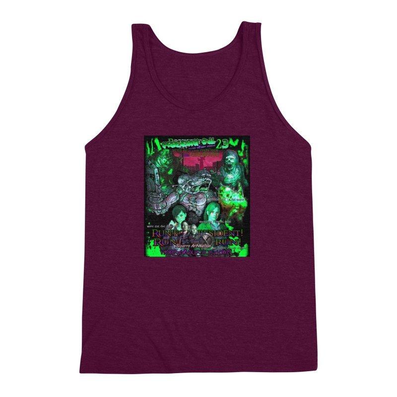 President Evil 23: Toxic Slime Men's Triblend Tank by Monstrous Customs