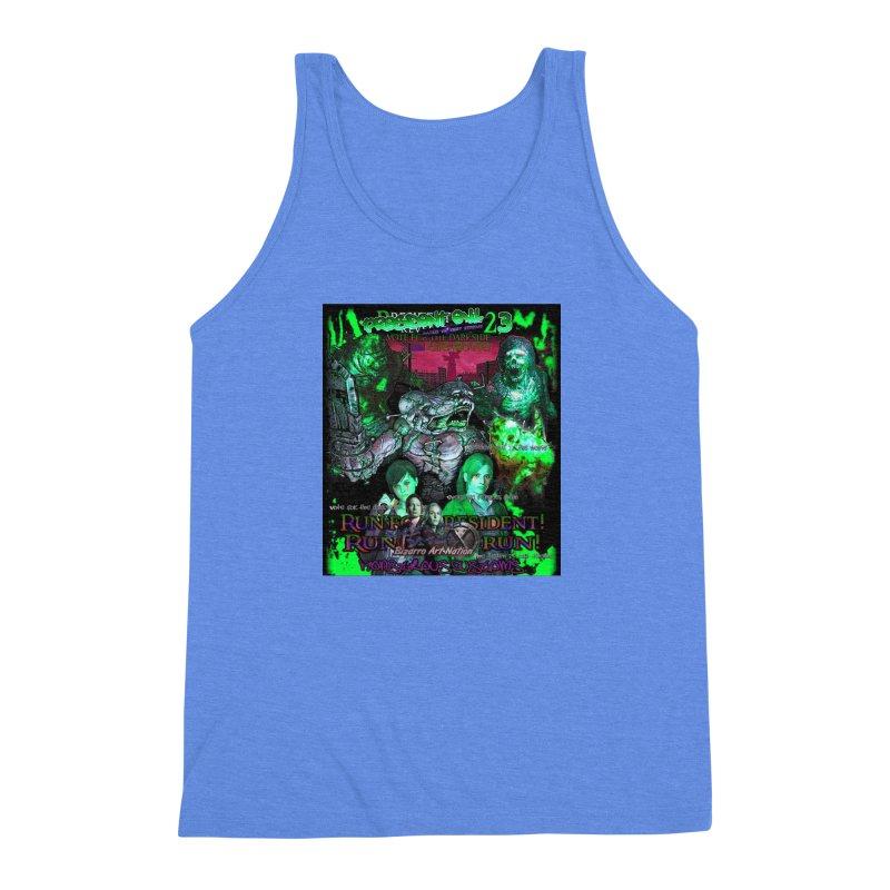 President Evil 23: Toxic Slime Men's Triblend Tank by Monstrous Customs