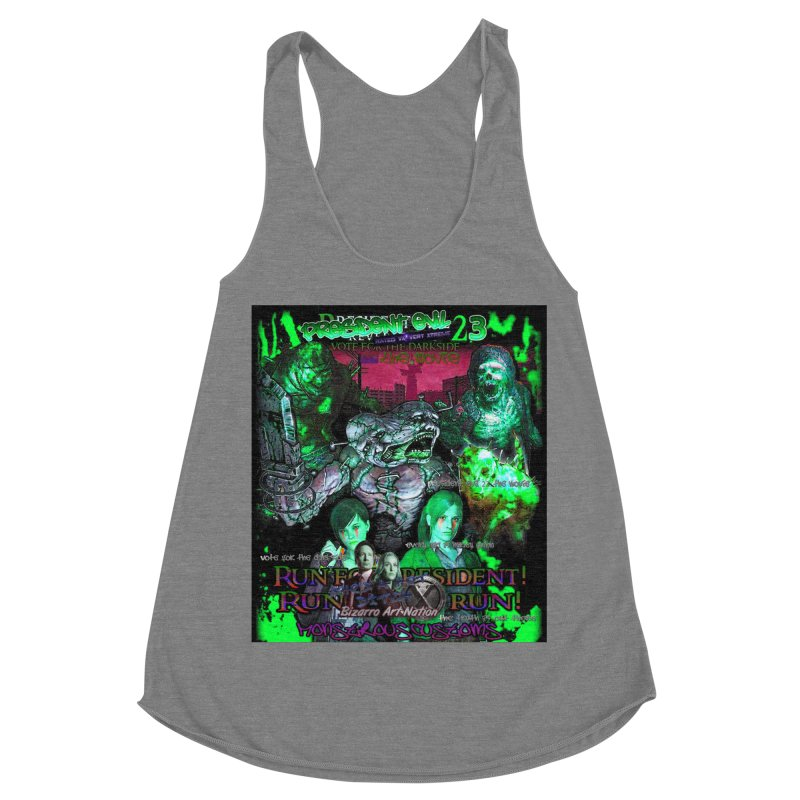 President Evil 23: Toxic Slime Women's Racerback Triblend Tank by Monstrous Customs