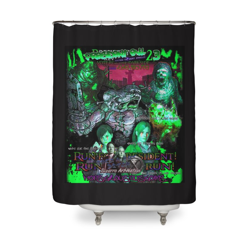 President Evil 23: Toxic Slime Home Shower Curtain by Monstrous Customs