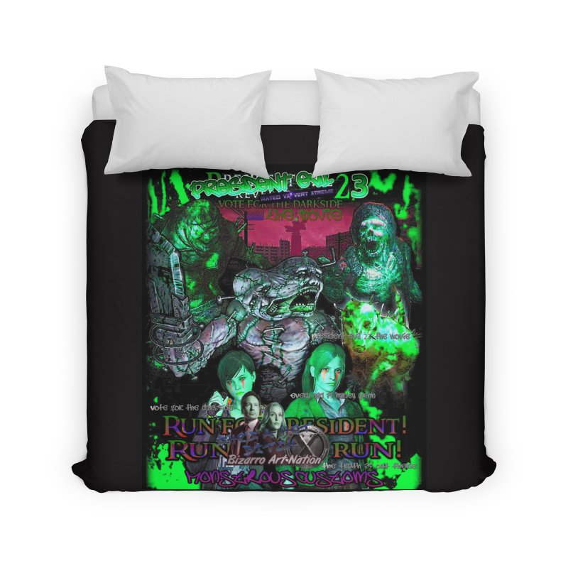 President Evil 23: Toxic Slime Home Duvet by Monstrous Customs