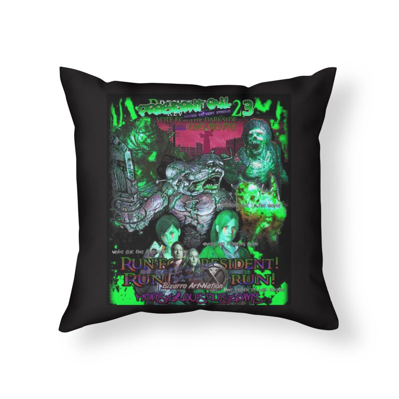 President Evil 23: Toxic Slime Home Throw Pillow by Monstrous Customs