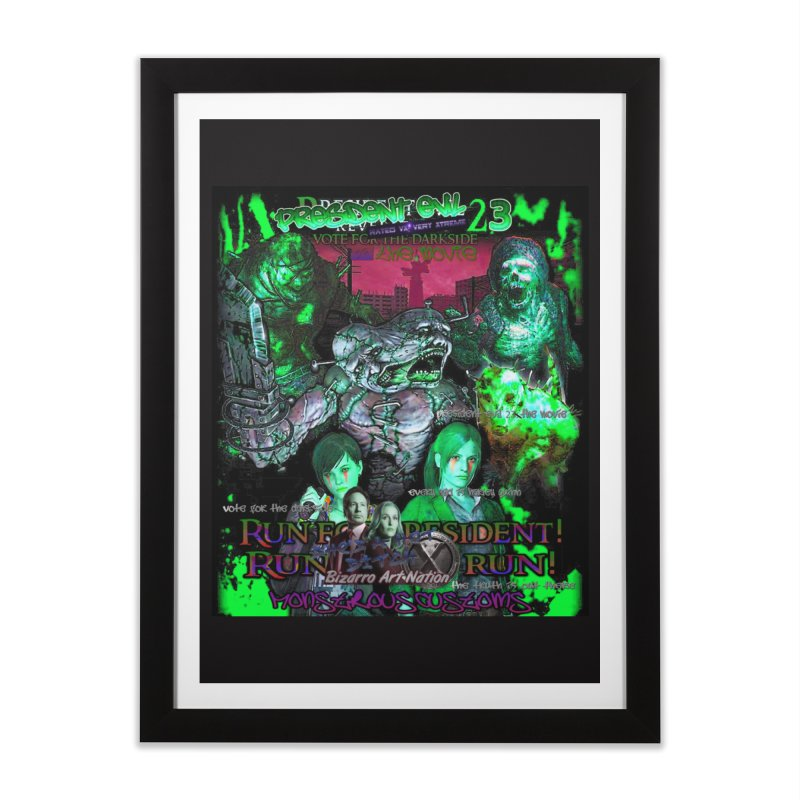 President Evil 23: Toxic Slime Home Framed Fine Art Print by Monstrous Customs