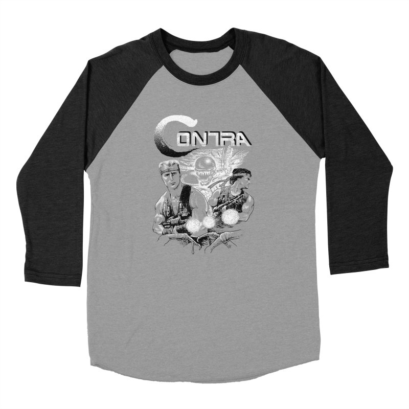 Contra Men's Baseball Triblend Longsleeve T-Shirt by montoya's Artist Shop