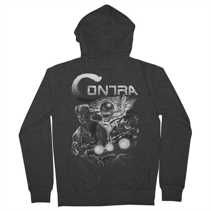 Contra Men's French Terry Zip-Up Hoody by montoya's Artist Shop