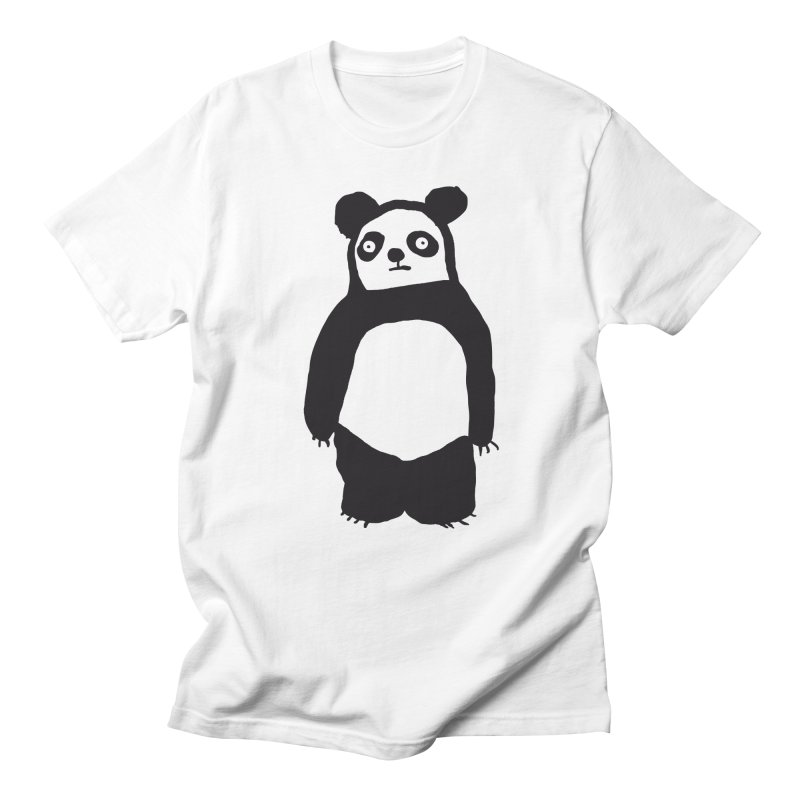 Happy Panda Men's T-shirt by montt's Artist Shop