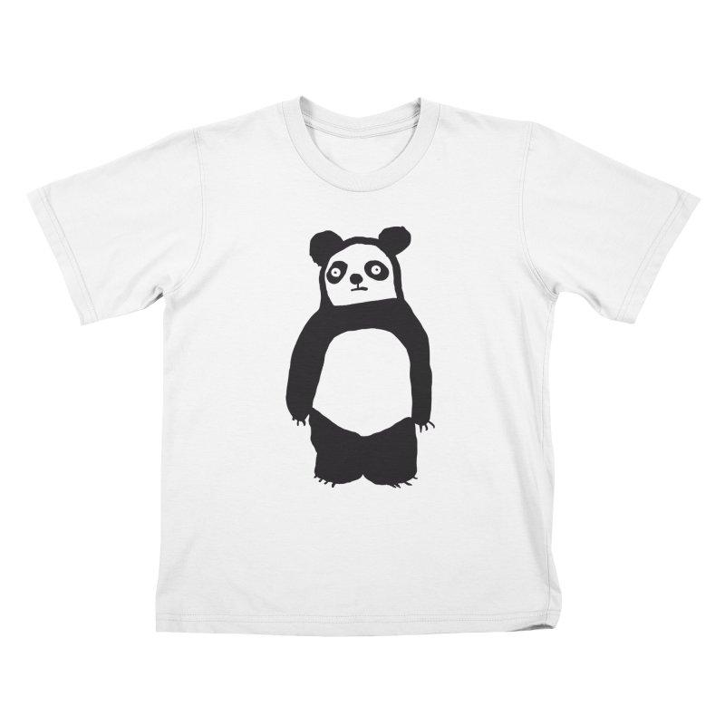 Happy Panda Kids T-Shirt by montt's Artist Shop