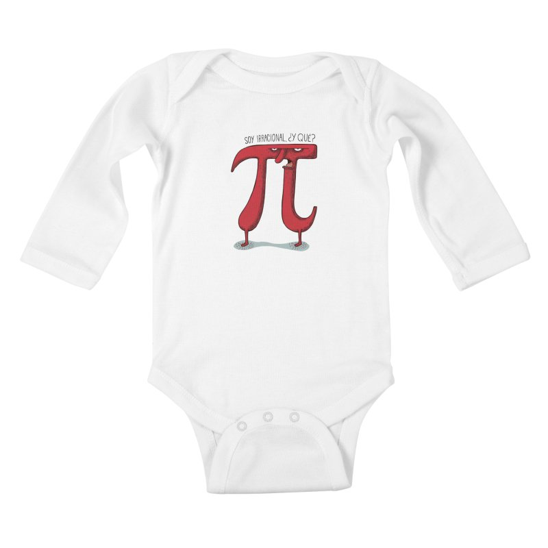 Número irracional Kids Baby Longsleeve Bodysuit by montt's Artist Shop